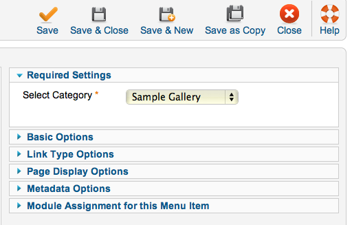 Gallery Quick Start: Phoca Gallery Users Only